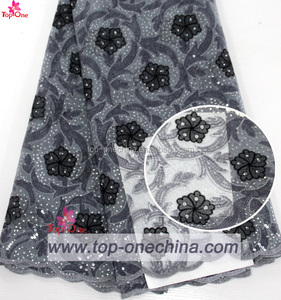 sequins lace fabric/african wedding lace fabric nigeria asoebi party lace with sequins