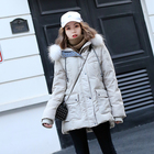 2019 winter raccoon fur collar down jacket womens duck down coat