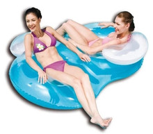 Bestway 43009 Inflatable Double Ring Float Swimming Pool Floating Toys