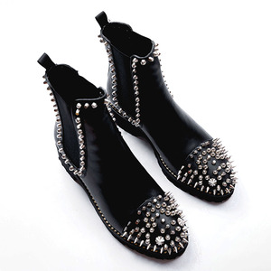 88a2f9ee7ef9 WETKISS Custom Brand Punk Style Girls Leather Boots Flat Heels Fashion  Ladies Rivet Ankle Boots Winter