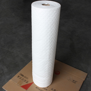 White color industrial absorbent roll only oil absorbent roll