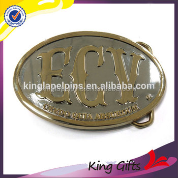 Professional manufactur fashion decorative dress 3D Brass belt buckle