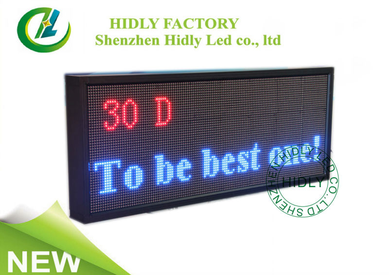 hidly factory manufacture portable scrolling message led sign board