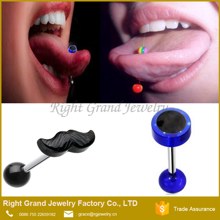 Factory Price Body Piercing Surgical Steel Anodized Barbell Tongue