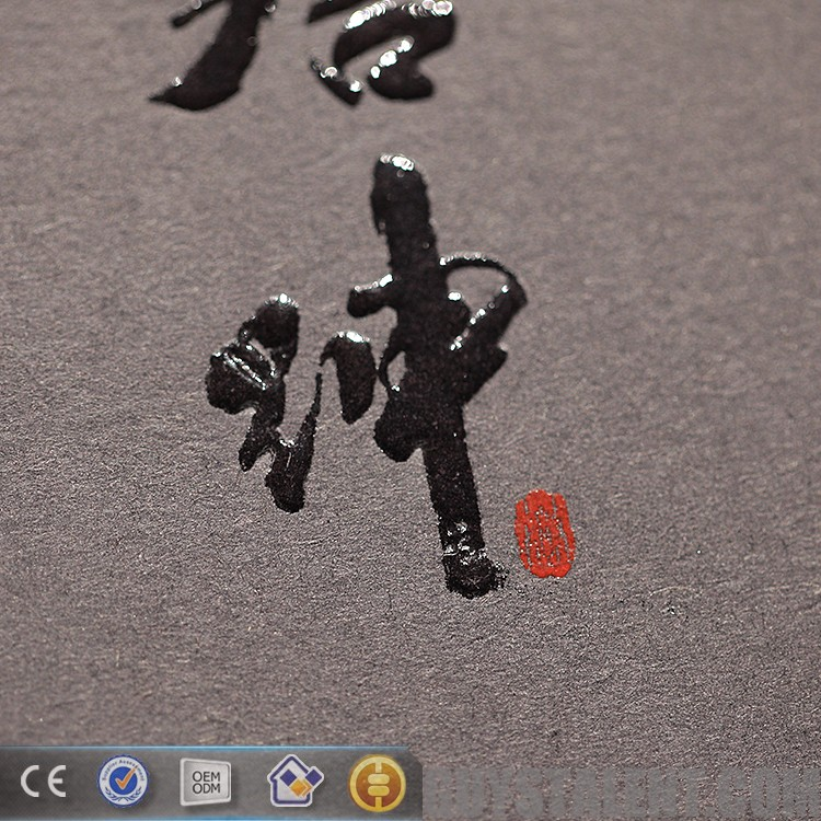 custom embossed logo and spot UV new china hang tag designs for garment