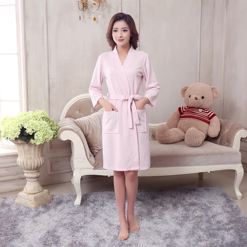 0006f4696a 2019 Wholesale Towel Bath Robe Dressing Gown Unisex Men Women Sleeve ...