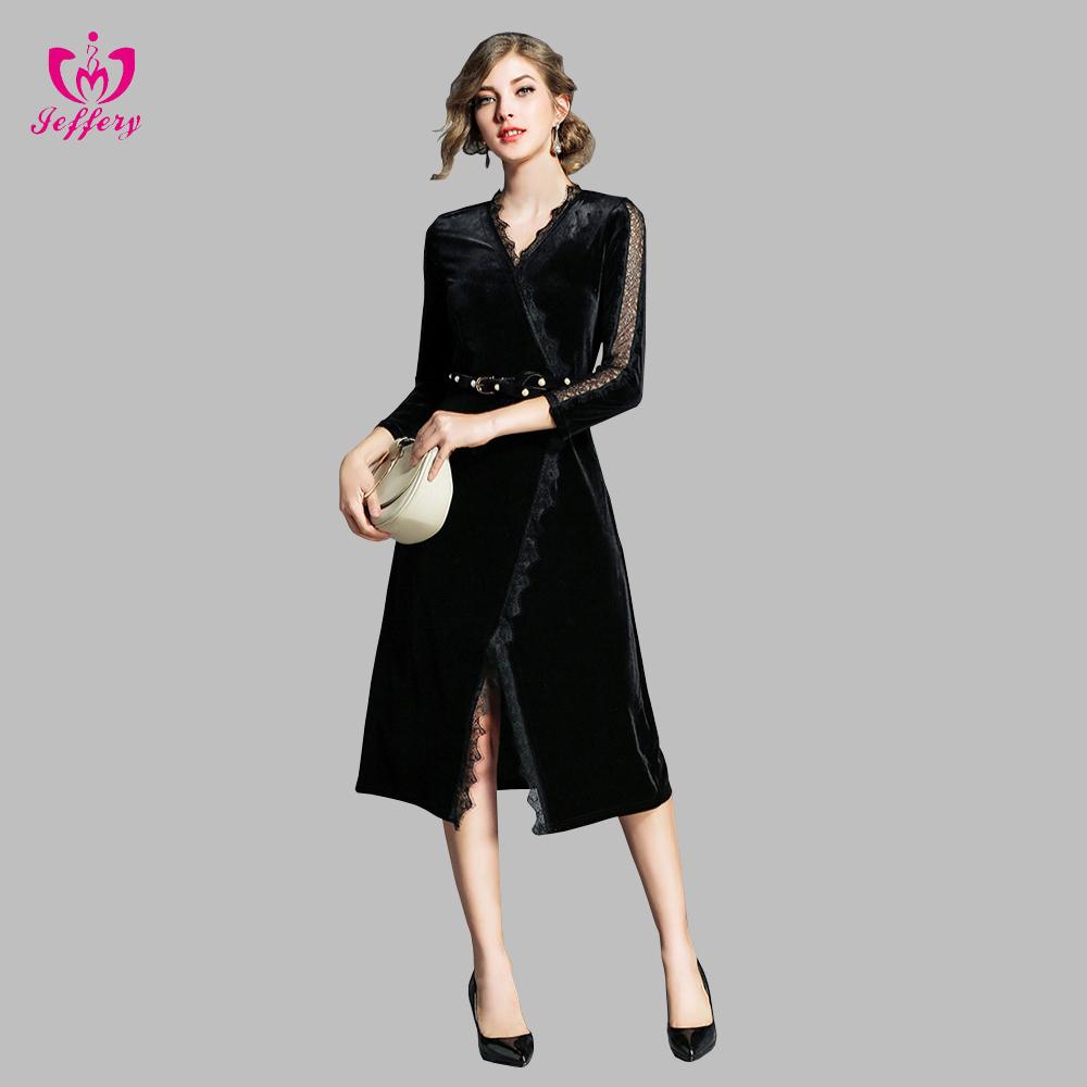 23c08f695e2e4b6 Оптовая продажа бархатные платья с кружевом. Купить лучшие бархатные ...