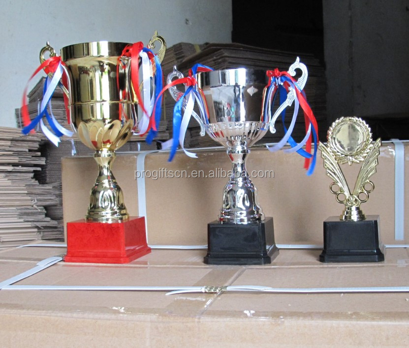 Groothandel custom made 150mm-550mm star vorm kinderen trophy cup metal awards