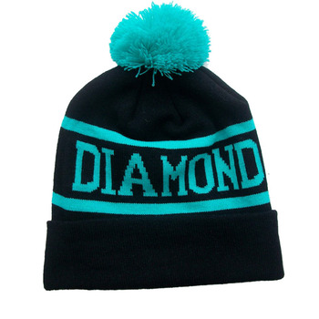 de31335fa9550 Custom Jacquard Logo Beanies Knit Hat Pompom Ball Womans Winter Knitting  Hats With Custom Hats
