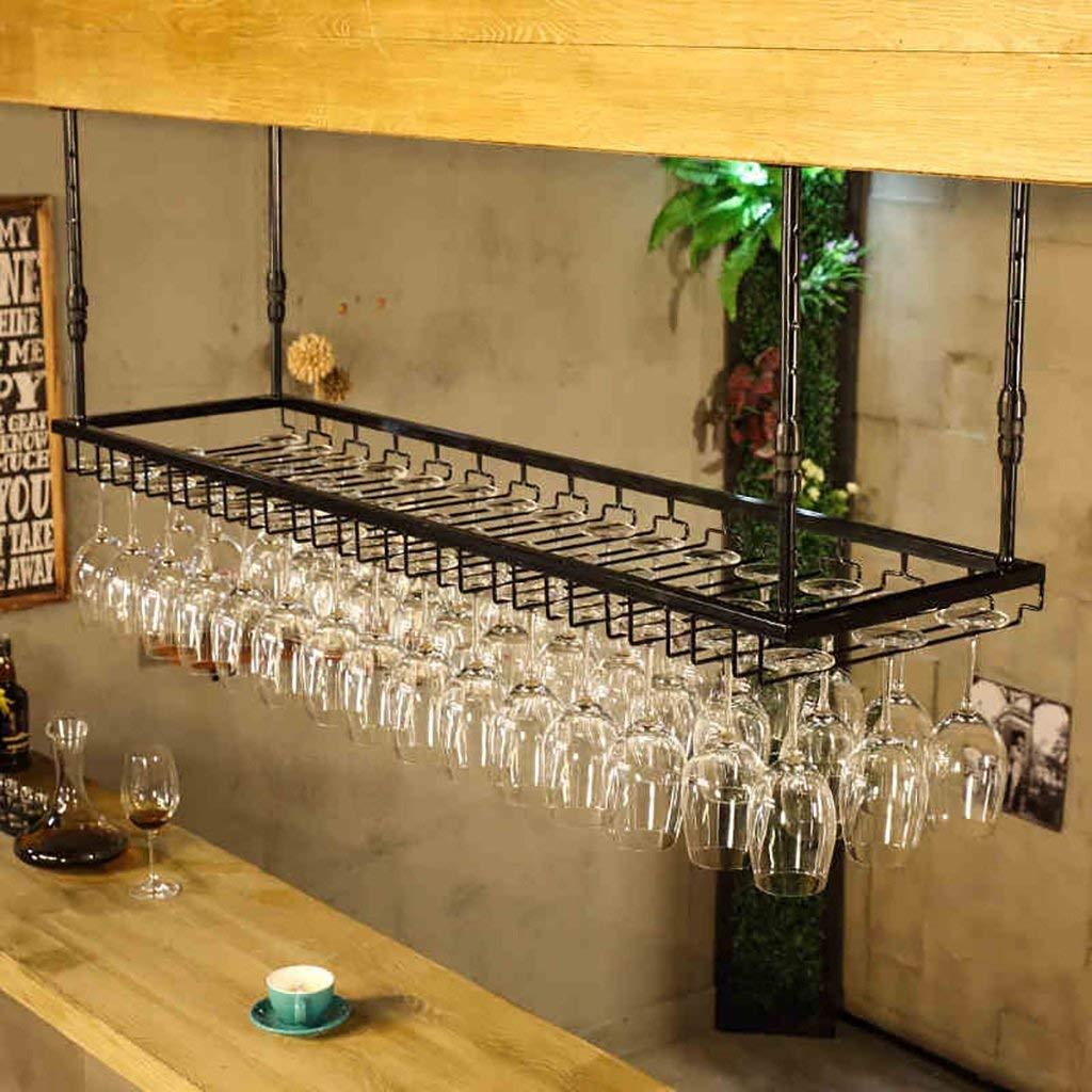 Wine Glass Rack,Shelf Wine Glass Holder,Wine Glass Rack, Champagne Glass Rack,Glassware Rack Wine Rack,Goblet Glass Rack,Glassware Wine Rack, wall wine racks (Color : Black, Size : 6035cm)