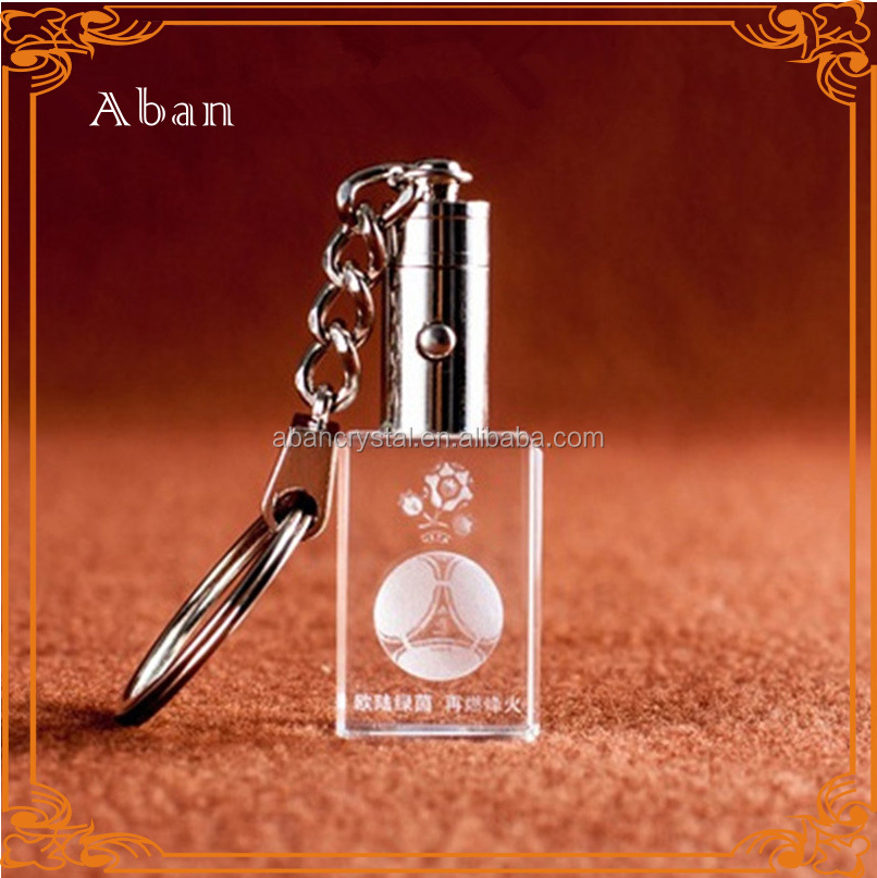 competitive price 3d laser engraved crystal,engraved crystal keychains