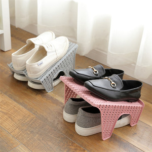 The new double layer household is simple and convenient to save space creative shoe rack