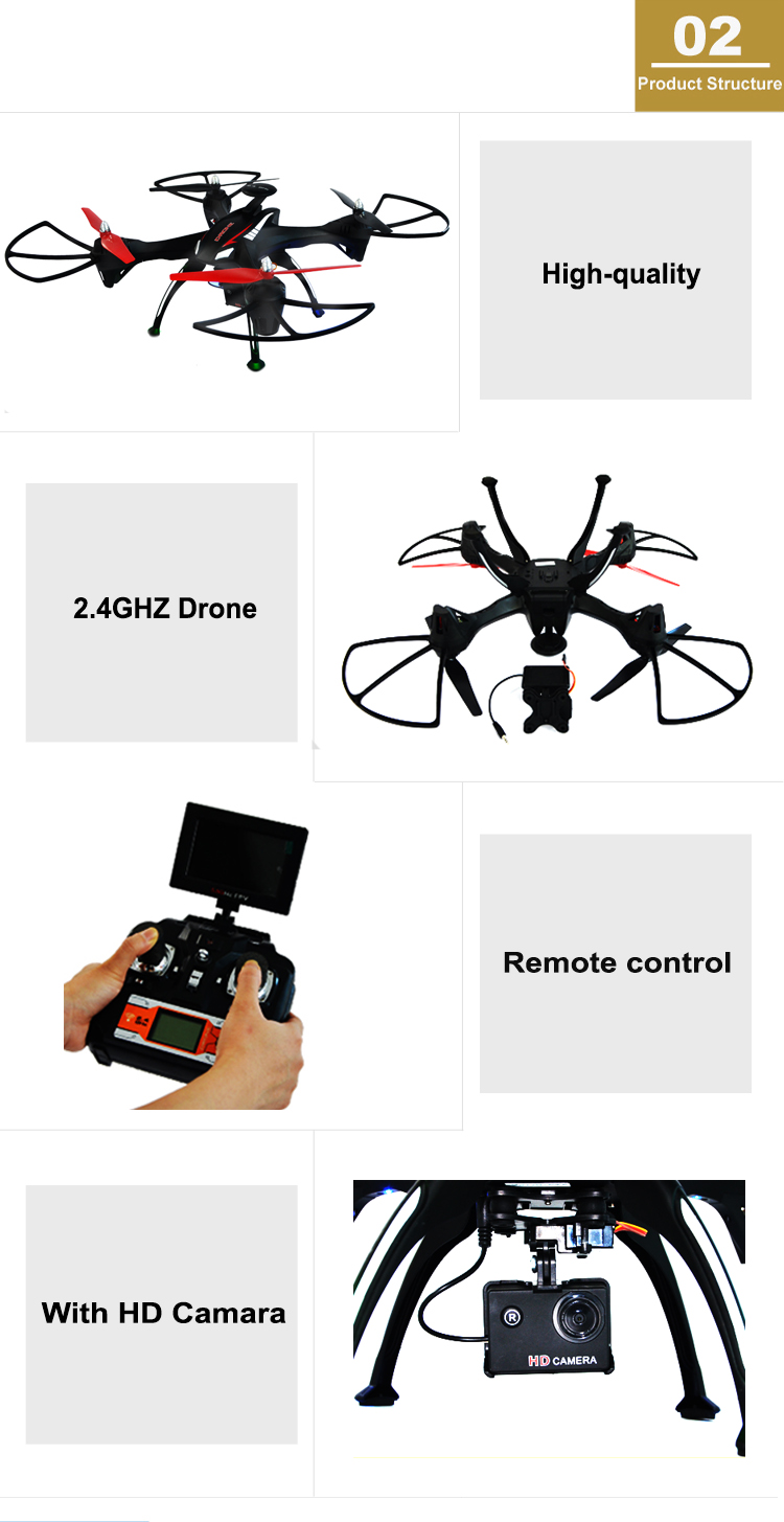 Free Shipping 6 axis flying quadcopter drone with HD camera