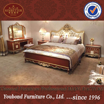American Style Home Furniture Dubai Luxury Hand Made Bedroom