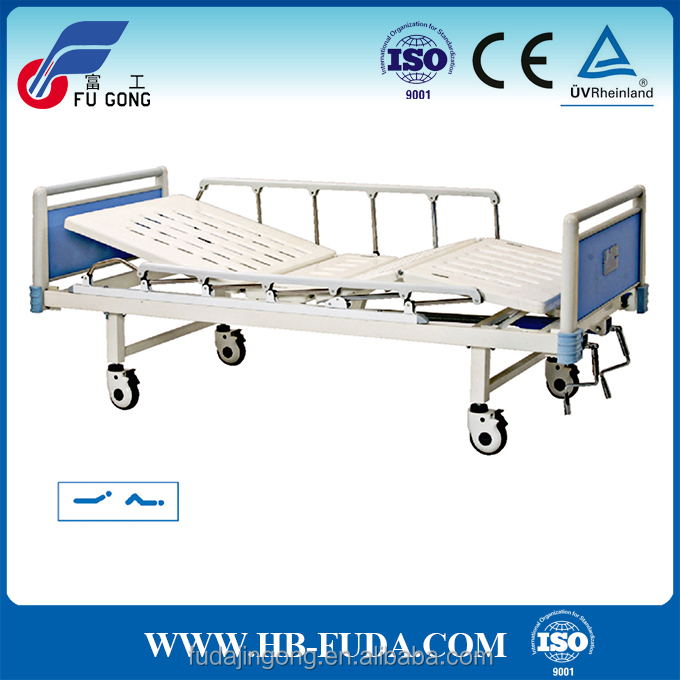 Home care nursing bed 2 crank manual hospital beds for old people