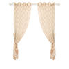 Modern sheer geometric embroidered curtains for living room window tulle treatment custom made