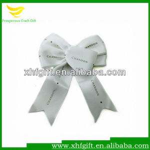 Custom Satin Fabric Bowknot for Hair Accessories
