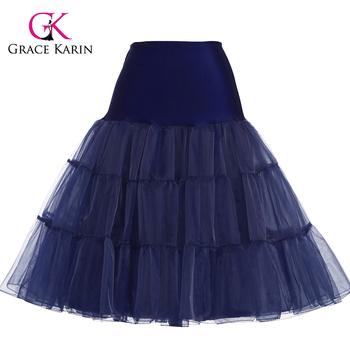 b427646320 Grace Karin Navy Blue Tutu Petticoat Underskirt Crinoline Skirt For Wedding  Vintage Dress CL008922-8