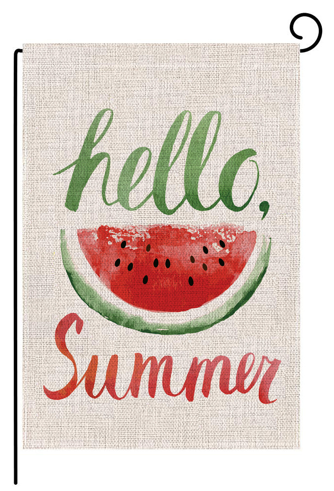 Summer Welcome Flag Garden Yard Flower Decorations And Banners Hanging