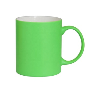 Bright Colorful Matte Soft Touch Coffee Mug Rubber Coated Mug For Laser Engrave