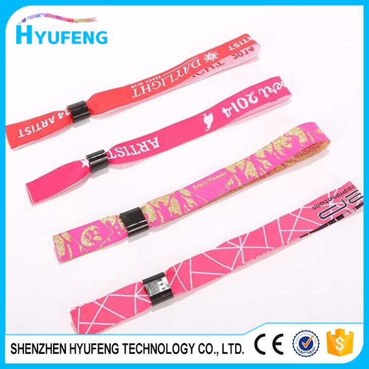 Personalized polyester wristbands for one event