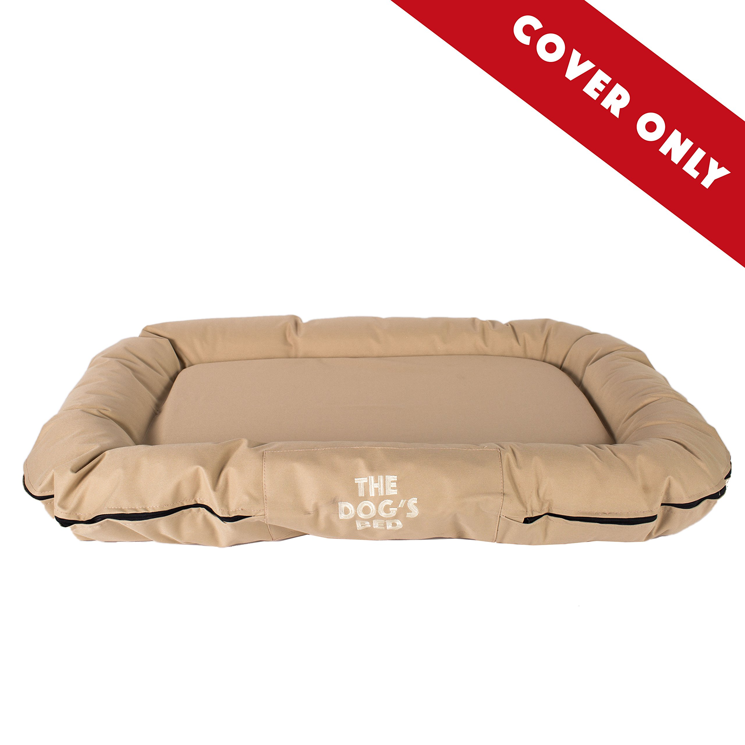 The Dog's Bed, Premium Quality Dog Bed, Water Resistant Durable Oxford Fabric Designed for Comfort, Washable Cover, Boarding Kennel Favorite