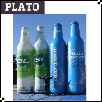 Bud Light Aluminum Bottles Inflatable Liqueur Bottle For Attracting