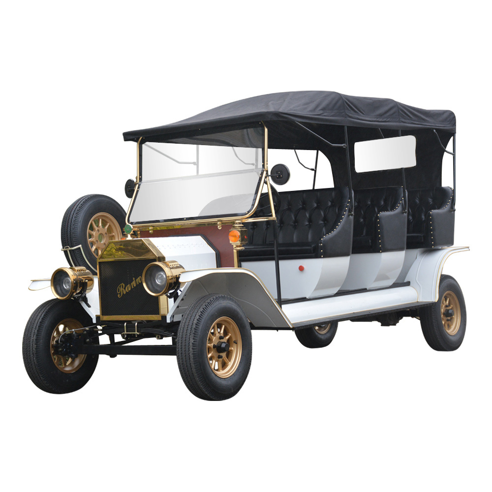 Resort golf course luxury china 3 row vintage electric car price vintage car