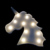 High Quality unicorn head battery operated marquee led fairy lights for plastic marquee night light