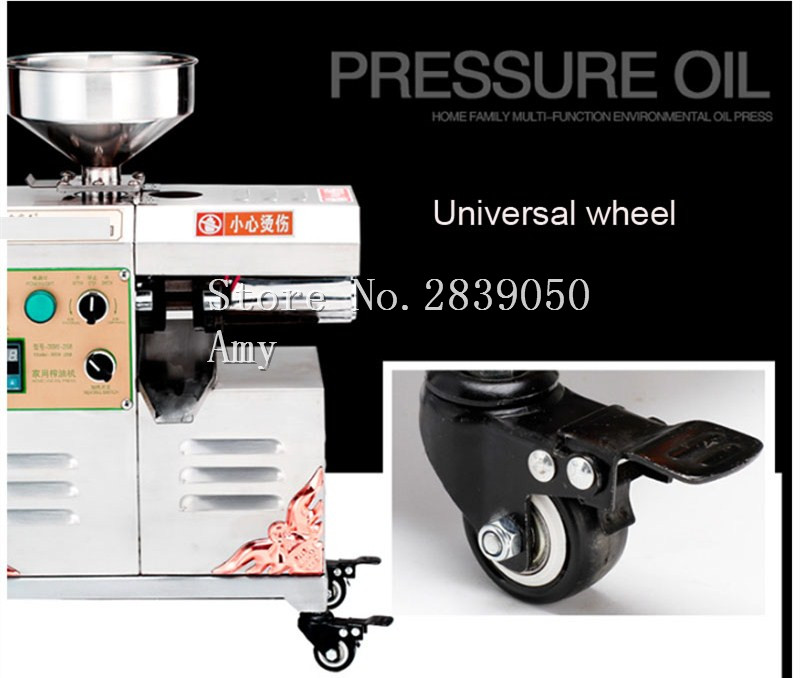 Factory price home cold oil press machine for soybean groundnut coconut avocado sesame and olive sunflower oil press machine