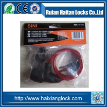 HX-022 Bicycle wire lock Large round aluminum core, iron key, belt clip