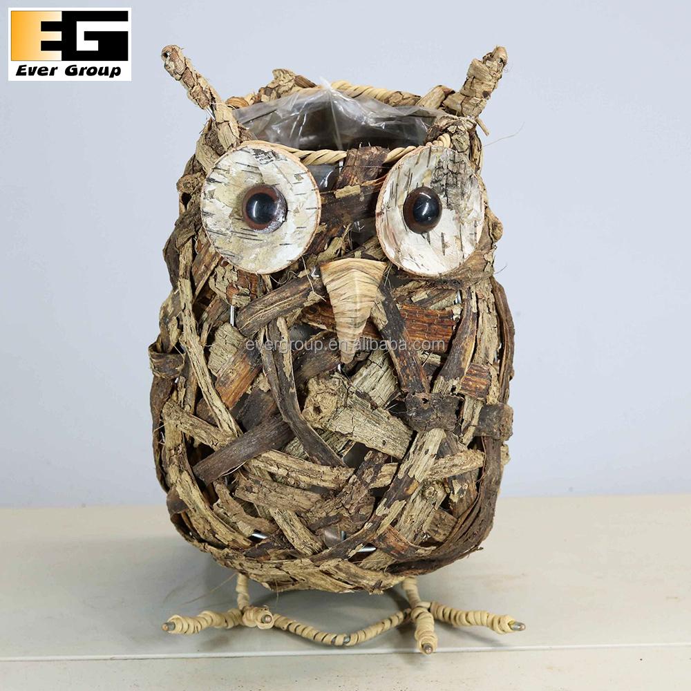 Owl Shape Garden Flower Arrangements Pot For Plants - Buy Animal ...