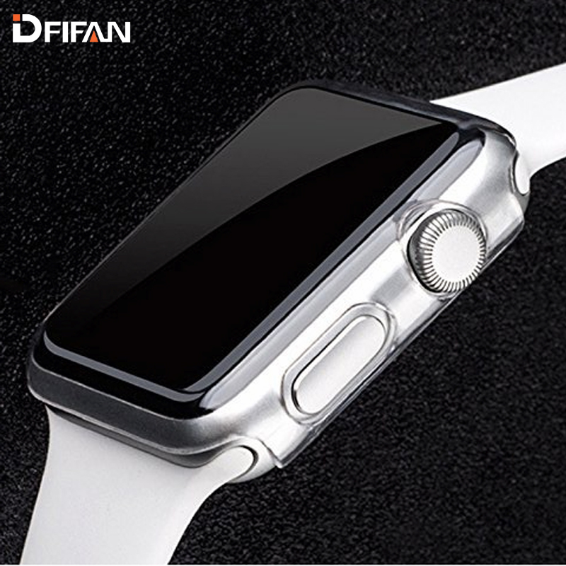 DFIFAN Transparent Tpu Case for Apple Watch 2 3 4 Flexible Clear Case 40mm 44mm 38mm 42mm Full Cover for Apple Watch Case, Transparent or custom