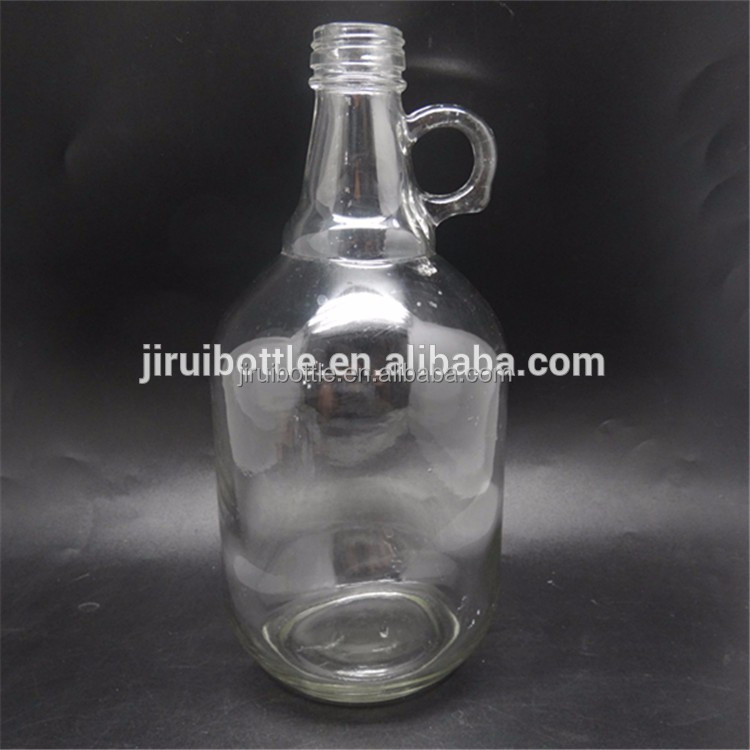 64oz clear glass wine bottles with screw neck