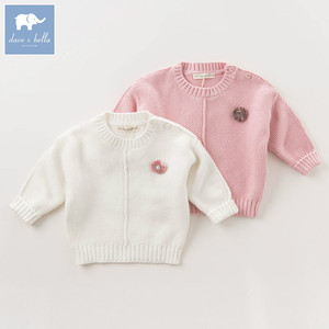 DB5533 dave bella autumn infant baby girls fashion 100% cotton cardigan kids toddler coat lovely children knitted sweater
