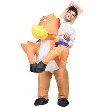 Full mascote fat animal inflatable horse mascot costume