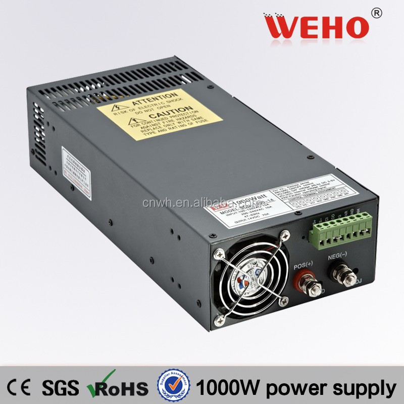 Low noise AC TO DC power supplier 12v 1000w power supply 12v 1000w scn-1000w