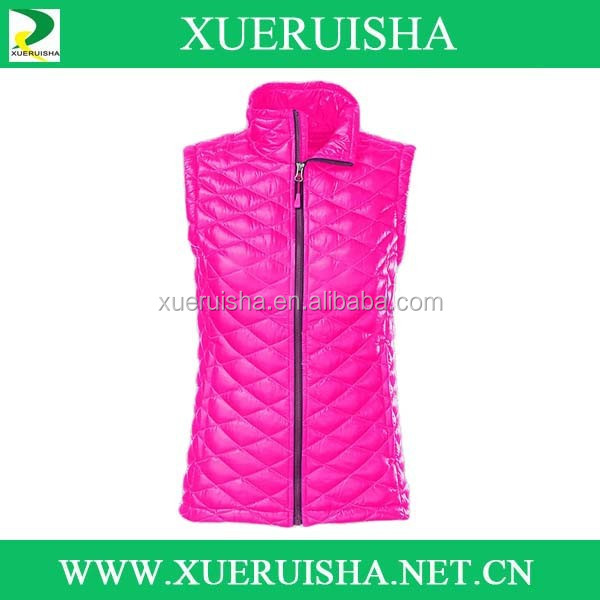 New Design Womens Outdoor Duck Thick Padding Down vest