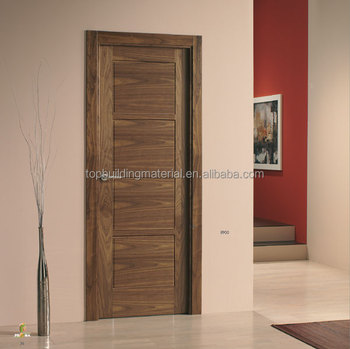 Custom interior solid walnut veneer door
