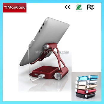 Tablet crane Mobile phone Stand Power bank 10400mah,power bank with stand for mobile phone laptop