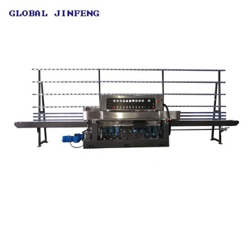 9 Spindle Glass Straight Line edge Grinding Machine with Video JFE-9243