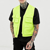 Fashion wholesale custom high quality mens sleeveless neon green utility cargo vest vintage gilet