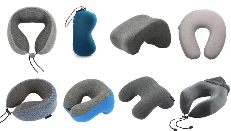 High Quality Novelty Hot Sale Travel Airplane Neck Pillow With Hood Neck Support Memory Foam Hoody Travel Pillow