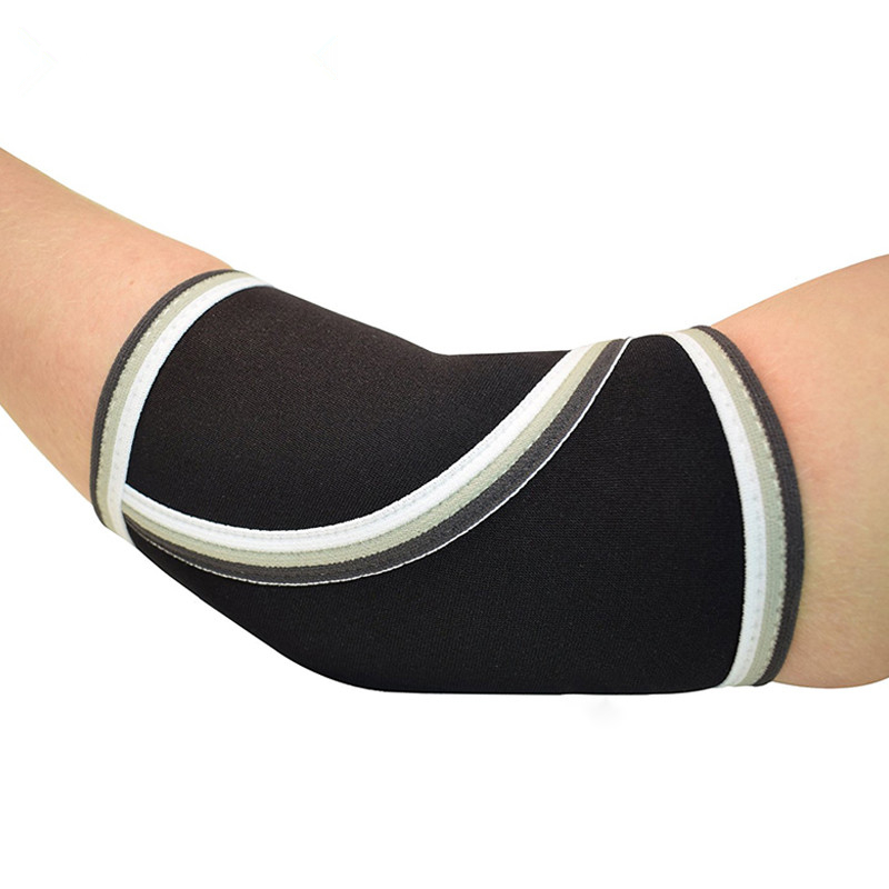 Unisex Neoprene Elbow Sleeves Support the Best Elbow Support Sleeve Brace Compression for Weightlifting, Powerlifting, Black/blue