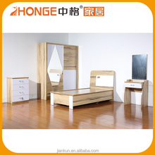 New Model American High Back Solid Wood Furniture Bedroom