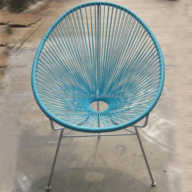 Color en plastique rotin en osier pivotant bascule - Chaise en osier enfant ...
