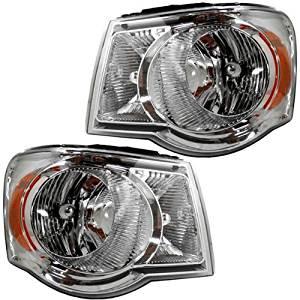 07-08 2007-2008 Chrysler Aspen Headlight Headlamp Pair