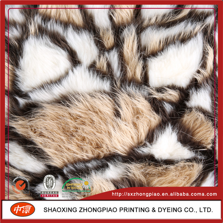 Proper price top quality long pile faux fur fabric