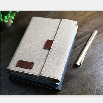 Elegant Design Fabric Texture Small Notebook With Pen Buy