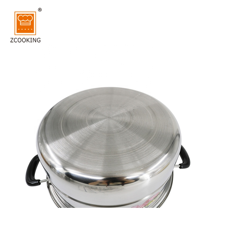 2 Layer Cooking Pot /Stainless Steel Food Steamer With Glass Lid
